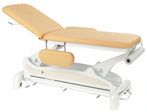 Elektrische Massageliege 2-teilig mit Armstützen und peripherer Fußbedienung Ecop. Ecopostural C3534