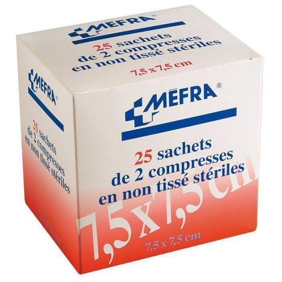 3M 1 Karton Kompressen Non-Woven-steril Tupfer MEFRA