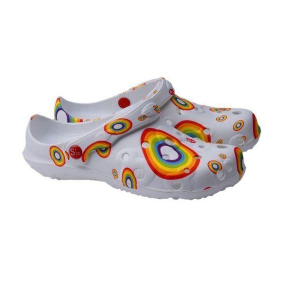 Schu'zz Clogs für Damen Regenbogen